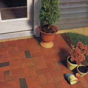stylish brick patio