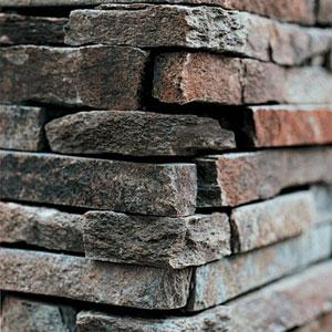 a rock veneer adds depth and texture