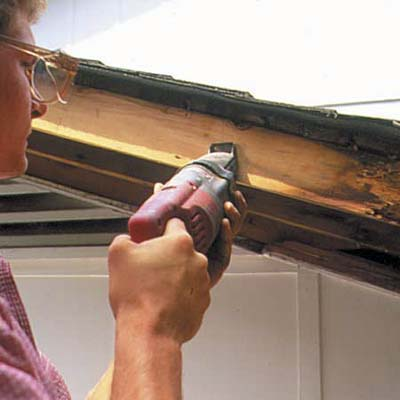 Remove Rotted Rafter How To Repair A Rotted Soffit