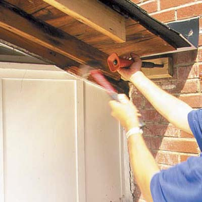 A rotted soffit is revitalized.