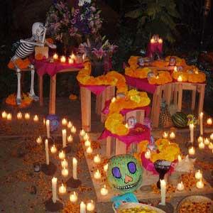 mexican dia de los muertos ofrenda