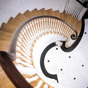 Custom spiral stairs