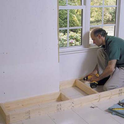 Plans for building a storage bench seat - How to build a window bench ...