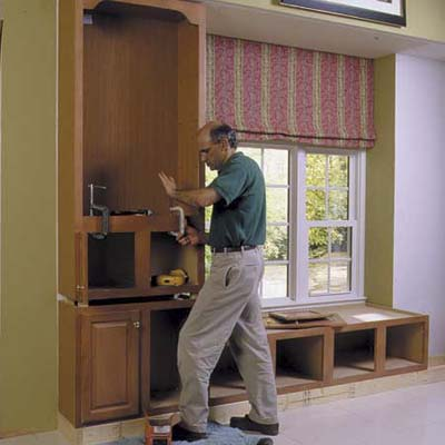 clamp the cabinets together