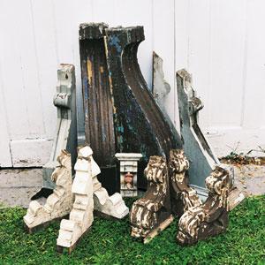 vintage wooden corbels
