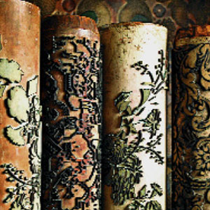 wood printing rollers for wall coverings