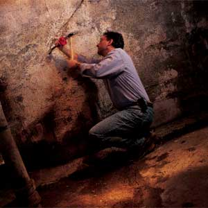 repairing a wet basement
