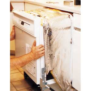 replacing dishwasher; d-i-y installation