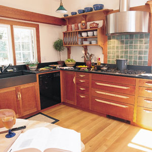 AArts and Crafts, newly-renovated kitchen