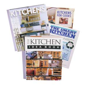 kitchen design; magazines and books