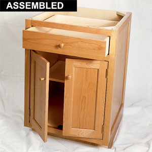 assembled high quality base cabinet; what to look for