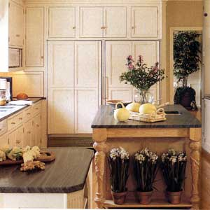 multi-height island; kitchen