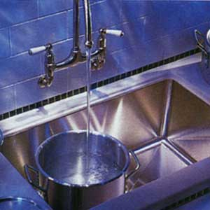 stainless steel sink | gooseneck faucet