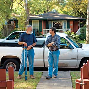 Bill Moore and Norm Abram of TOH's Austin House Project