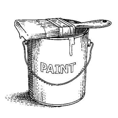illustration of a paint can