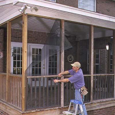 Remove the wood battens faster way to install porch screens this old house - Things consider installing balcony home ...