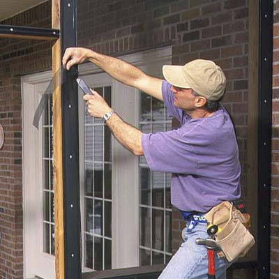 porch screen installation