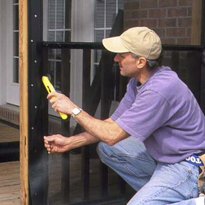 porch screen installation