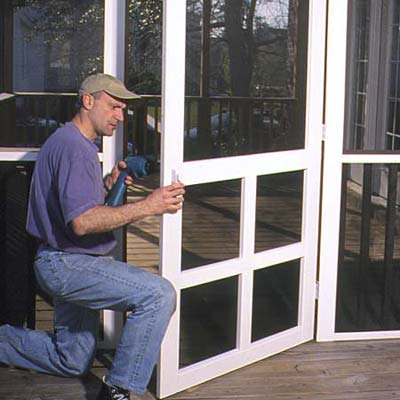 Install The Screen Door How To Install A Porch Screen