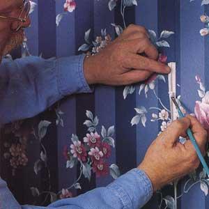 repairing wallpaper