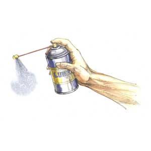 Unclogging Spray Paint Can Nozzle