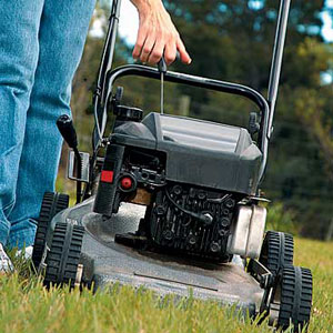 starting lawn mower