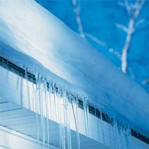 an ice dam
