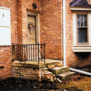 Crumbling Brickwork Porch House Exterior This Old House