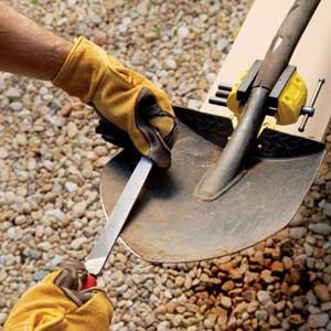 Sharpening Digging Tools