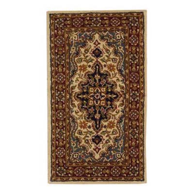 detail of a beautiful pattern on a bedside area rug