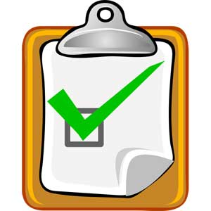 clipboard with checklist and green checkmark