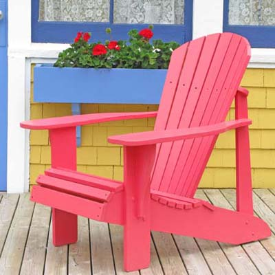 red adirondack chair; istockphoto.com
