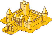 illustration of the sand castle