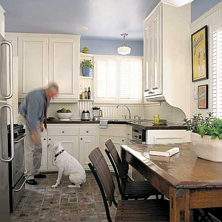 One stop shopping eat in kitchens this old house for Small eat in kitchen ideas