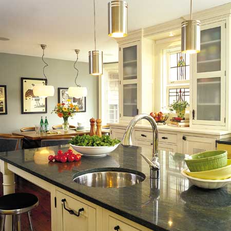 Eat-in kitchen with island and breakfast nook