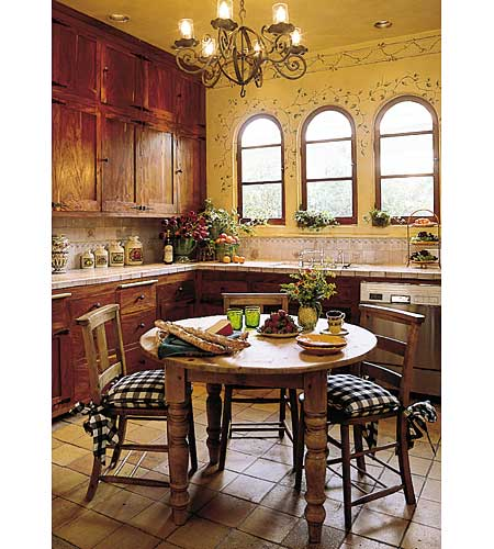 Eat-in kitchen with wooden table
