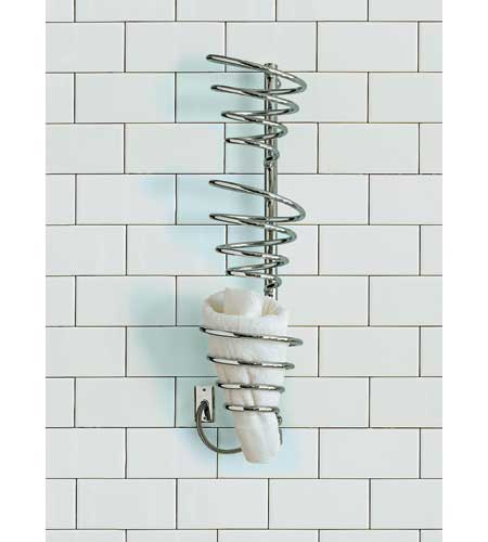 towel warmer with spiraled coils