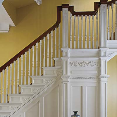 original moldings in the staircase