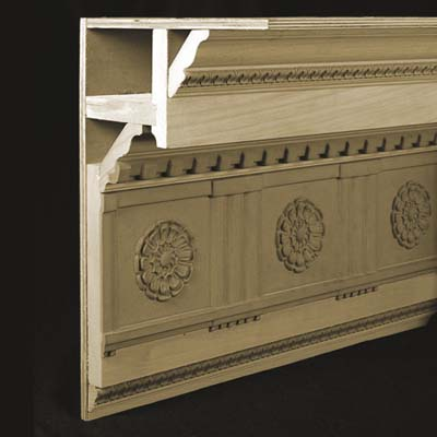 parts of crown moldings that are made whole