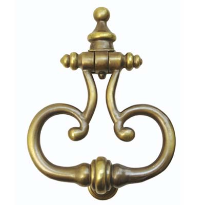 curves of this door knocker are shaped like perfume bottle