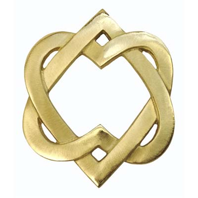 solid brass entwined hearts designed door knocker