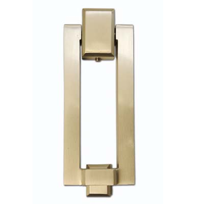 brass rectangular door knocker
