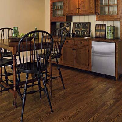 engineered hardwood in kitchen