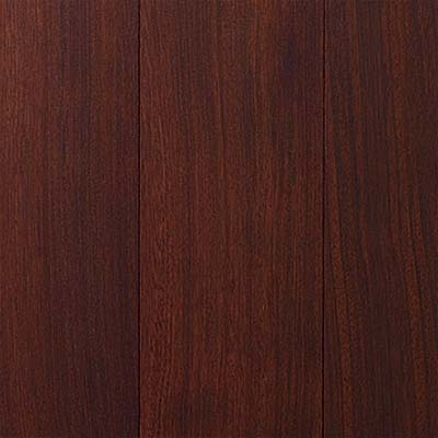 closeup on Brazilian cherry engineered flooring