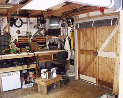 The workbench that Jim McLoughlin built.