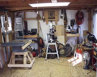 The workshop interior.