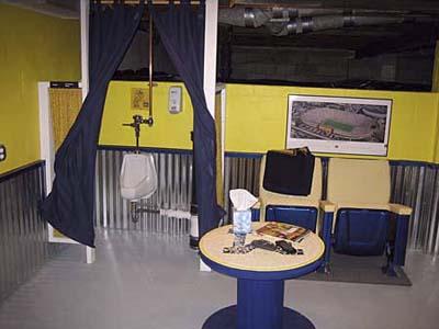 The basement post remodel.