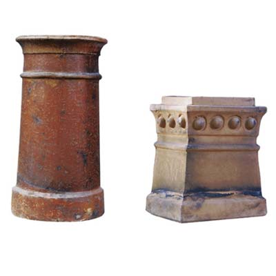 antique patina chimney pots