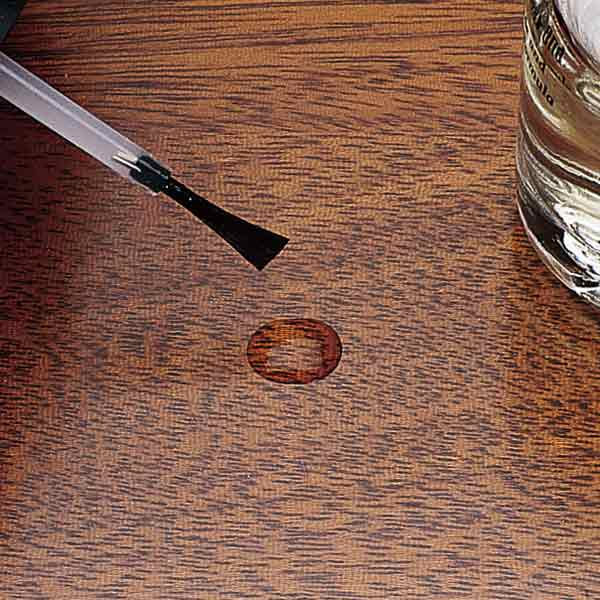 fixing shallow chips in wood furniture stain surface