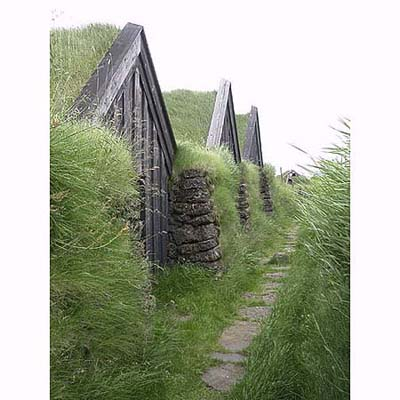 ancient green roofs from the 12th century